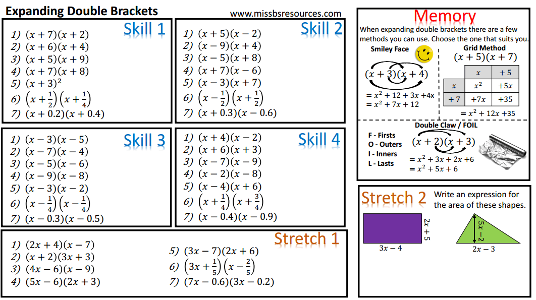 Algebra Maths Differentiated Worksheets – Simplifying Algebraic Fractions Worksheet