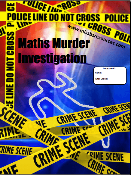 Maths worksheets  homework     s and investigations Maths Murder Investigation