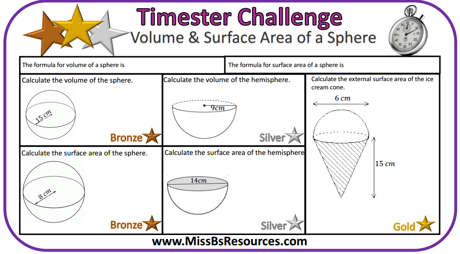 Geometry. Volume And Surface Area Of A Sphere. Worksheet. Volume Worksheet Gcse At Mspartners.co
