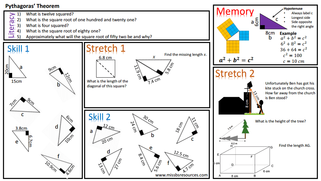 gcse maths pythagoras theorem worksheet a grade level. Black Bedroom Furniture Sets. Home Design Ideas