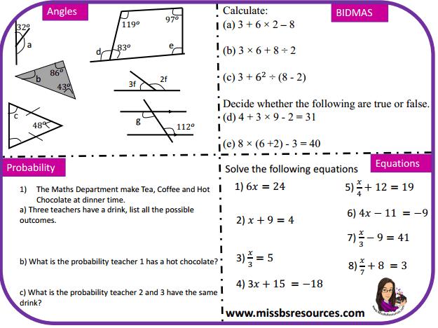 Maths Gcse Quick Wit Revision Resources